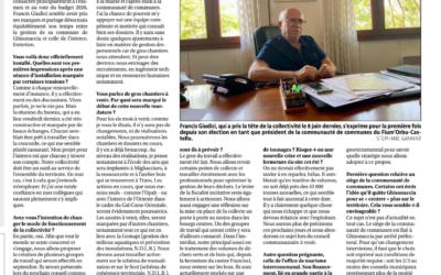 Interview du nouveau Président de la Communauté de Communes Francis Giudici